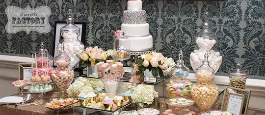 Buffets & Tables: 9 Step Ultimate DIY Ideas Guide (Secrets from Celebrity Wedding Planners) - My Custom Candy Hearts