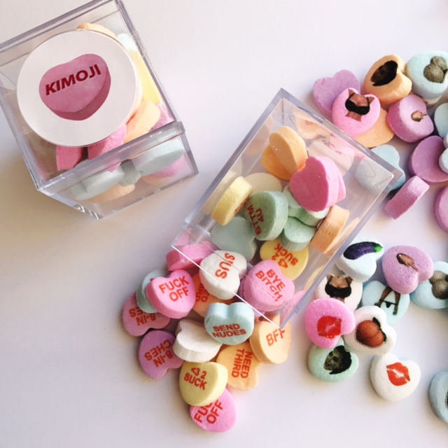 Kim Kardashian Candy Hearts – Custom Conversation Candies for Kimoji