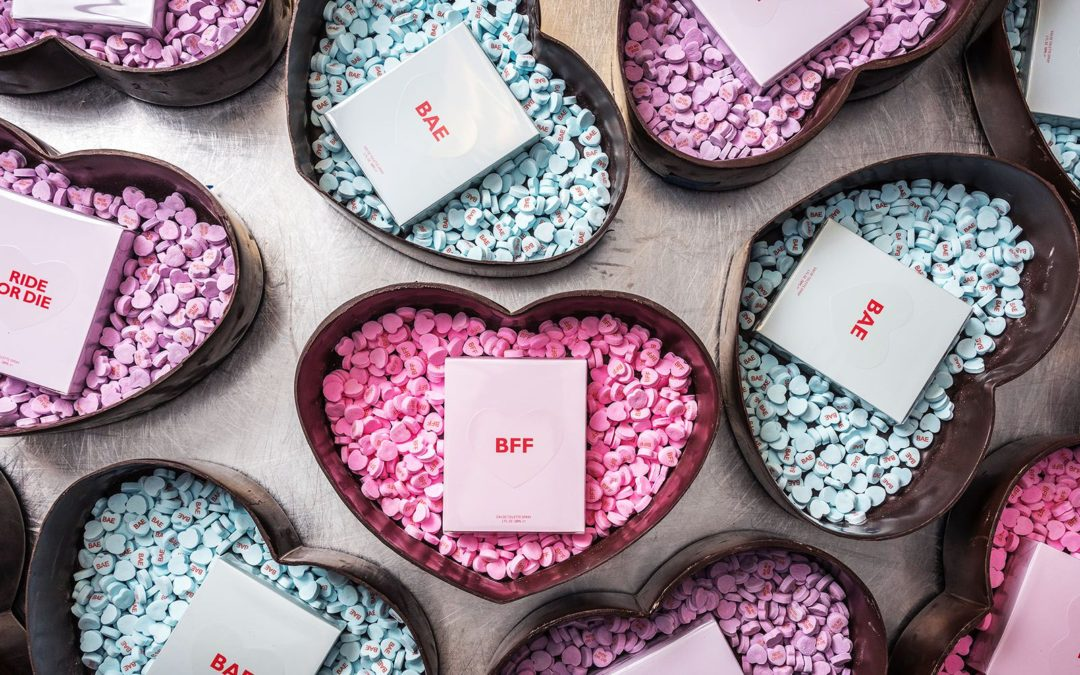 Valentine's Day Marketing Campaign: MYCUSTOMCANDY FOR KIMOJI PERFUME by Kim Kardashian West