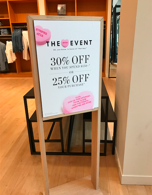 Genius Valentine's Day Retail Promotion Idea: How J.Crew Increased Foot Traffic on Lovers Day