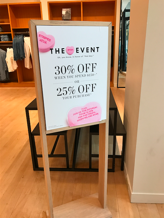 Valentine's Day Retail In Store Promotion Signage