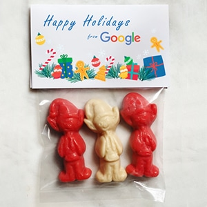 christmas candy with logo