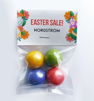 easter candy with logo