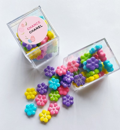 spring candy with logo