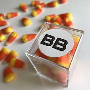custom halloween candy cubes